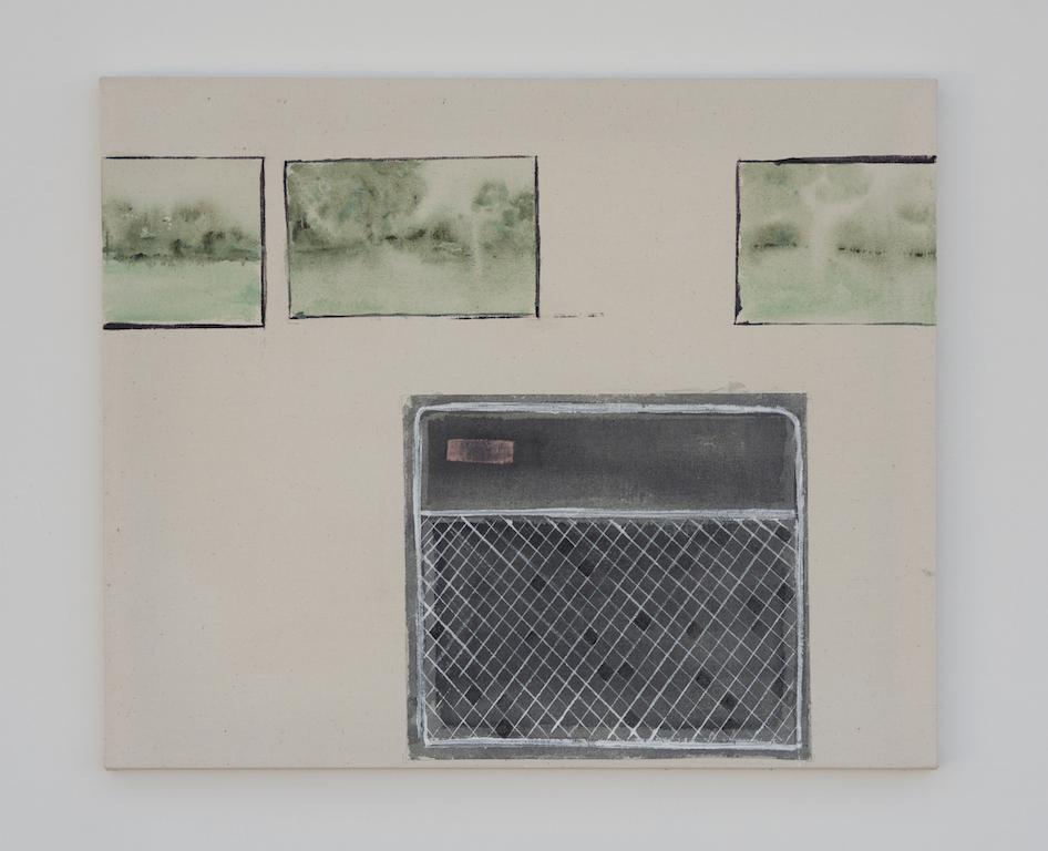 Amp, Mixed media on Canvas, 50 x 60 cm, 2018