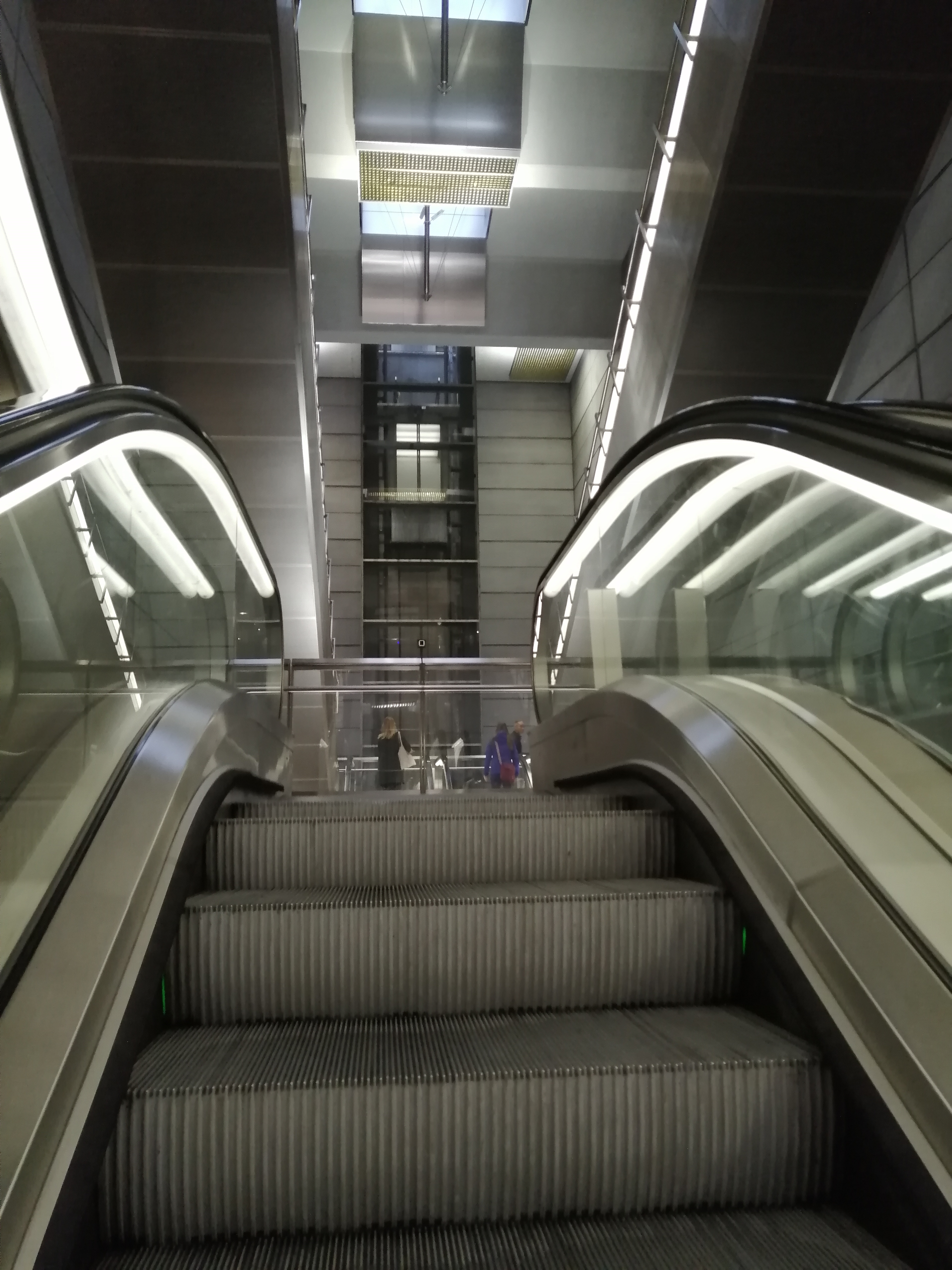 Escalator travelling up